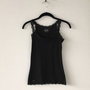 Converse One Star Tank Top with Lace.  Size XS